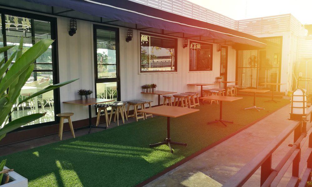 Artificial grass enhances a home patio in North Carolina